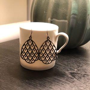 Lucky Brand silver earrings.
